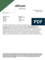Provider Summary - ENDOCRINOLOGISTS