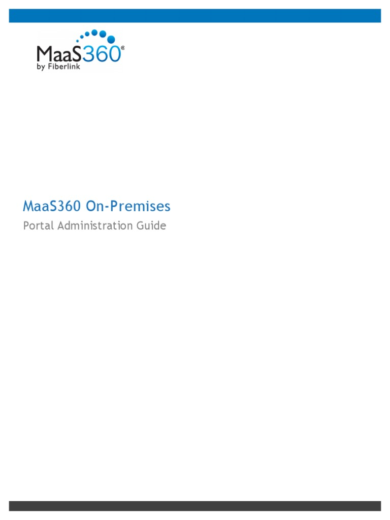 MaaS360 on-Premises - Portal Administration Guide | Mobile App | Ios