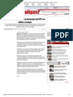 08-20-2015 Oficina Fiscal de Reynosa Da Descuentos Del 50% en Multas y Recargos