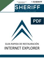 Guia Rapida de Restauracion Internet Explorer (Todas Las Versiones)
