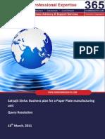 SMEToolKit_QueryResolution_PaperPlateManufacturing