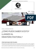 ¿Cómo Puedo Saber Si Estoy Llamado Al Ministerio Pastoral_ _ Cristiano Reformado