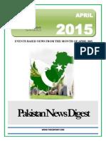 Pakistan News Digest April - 2015