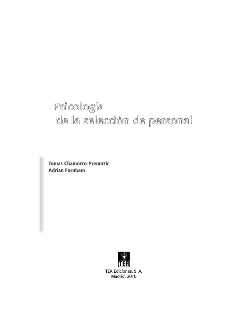 Psicología de La Selección de Personas