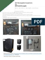 Amplificador Portátil Recargable Duophonic