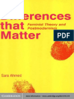Sara Ahmed - Differences That Matter. Feminist Theory and Postmodernism