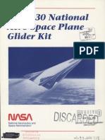NASA X-30 glider kit