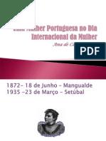 Uma Mulher Portuguesa No Dia Internacional Da Mulher