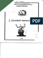 UNP Graduate School Manual