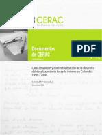 CERAC WP 12 Granada 2008 Caracterizacion Desplazamiento 1996-2006