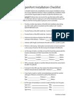 Iridium OpenPort Installation Checklist
