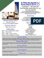 St. Peter the Apostle's Bulletin Aug.23,2015