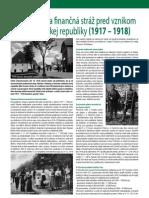 Colná správa a finančná stráž pred vznikom ČSR 1917 - 1918 (Colné aktuality 1-2/2010)