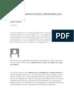 Capacitación Servicio Social Comunitario 2015
