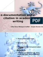 e Documentation and Citation in academic writing
