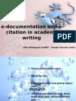 e-documentation and e-citation in academic writing