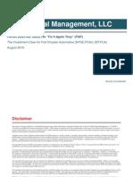 Investment Case For Fiat Chrysler Automotive