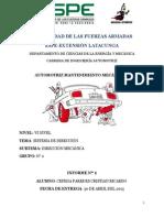Direccion Mecánica Mantenimiento Automotriz II