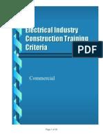 ECP ElectricalIndustryContructionTrainingCriteria