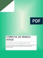 Proceso Productivo de La Compota de Mango