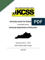 FY14 Safe Schools Data Report Final Edit 8.14.15