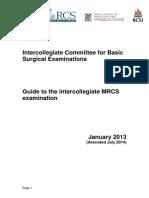 Guide Intercollegiate MRCS Exam Feb 12
