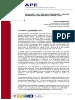 O Pulido Posneoliberalismo y Educación en América Latina BELEM Referencias FLAPE