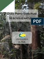 Corantioquia. Guía Solicitud Aprovechamiento Persistente de Bosque Natural