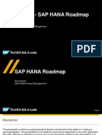 SAP HANA Roadmap