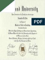 masters degree