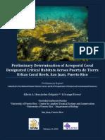 Hernandez & Rivera 2015 Pta Tierra Coral Reefs Report