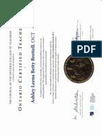 oct certificate