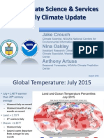 Climate update for July 2015