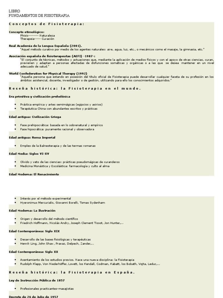 descargar libro bases teóricas y fundamentos de la fisioterapia pdf