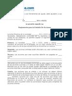 Reglamento de Emision de Acciones (Formato)