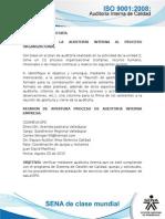 Actividad de Aprendizaje Unidad 3 de la auditoria interna de la organizacion del proceso