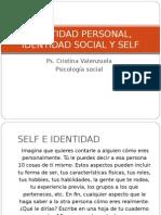 Clase Vi Identidad Personal, Identidad Social y Self