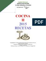 Receta Cocina II 2015