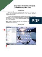 COMO HACER UN CUADERNO INTERACTIVO DE TRES COLUMNAS EN POWER POINT.pdf