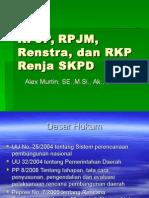 Sesi 3 Dan 4 PJP, PJM, Renstra, RKP
