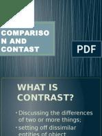 Comparison and Contast