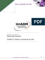 01_Unidad 3. Valores y Proyecto de Vidunidad 3 valores y proyectos de vida