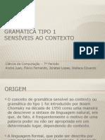 Gramática Tipo 1