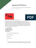 Cómo Reprogramar El PCM de Un Chevrolet