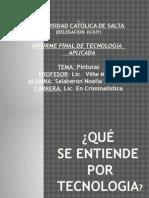Presentación Del Tp Final de Tecnologia Aplicada (criminalistica)
