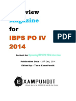 IBPS PO IV 2014 Interview Magazine ExamPundit
