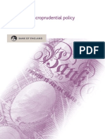 Bank of England, Tha Role of Macroprudential Policy