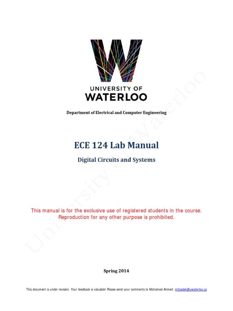 ECE 124 Lab Manual Spring 2014 | Field Programmable Gate Array | Hardware  Description Language