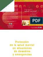 Proteccion de La Salud Mental en Situaciones de Desastres y Emergencias