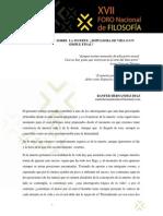 Disertaciones Sobre La Muerte, Impulsora de Vida o Un Simple Final, Ranfer Hernández